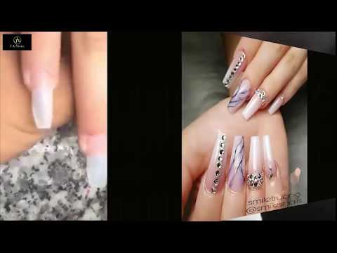 NEW ART DESIGN 2018-/MARBLE AND OMBRE/NAIL TECHNICIAN-SMILE/THE BEST NAIL 👍ART DESIGN👍 #234
