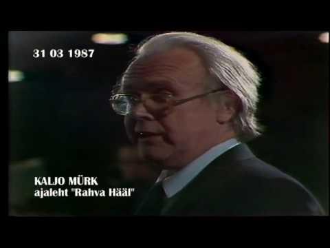 BRUNO SAUL - valitsusjuhi pressikonverentsi  III osa  (31 03 1987)