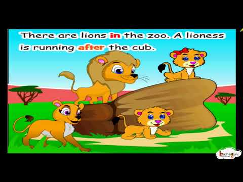 Short Animated Story A Visit To The Zoo Using Prepositions Grammar For Kids