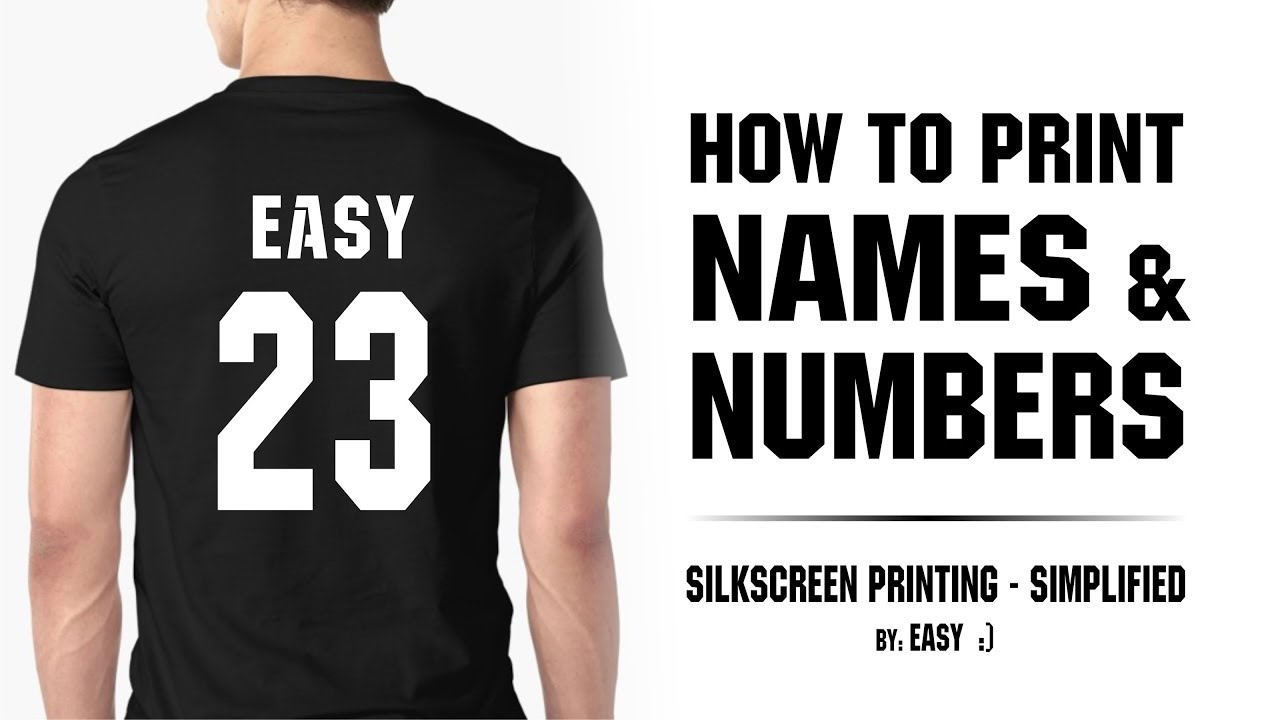 ca3747ae28f8 Screen Printing - How to Print Names   Numbers - YouTube
