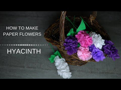 304 DIY Curly Paper Hyacinths Flowers/ Easy Craft Tutorial