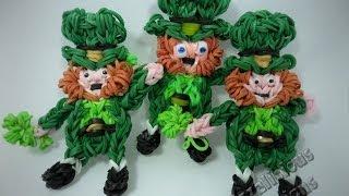 Rainbow Loom Leprechaun Action Figure for St Patricks Day Tutorial