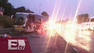 Carambola deja 13 heridos en la autopista México-Puebla