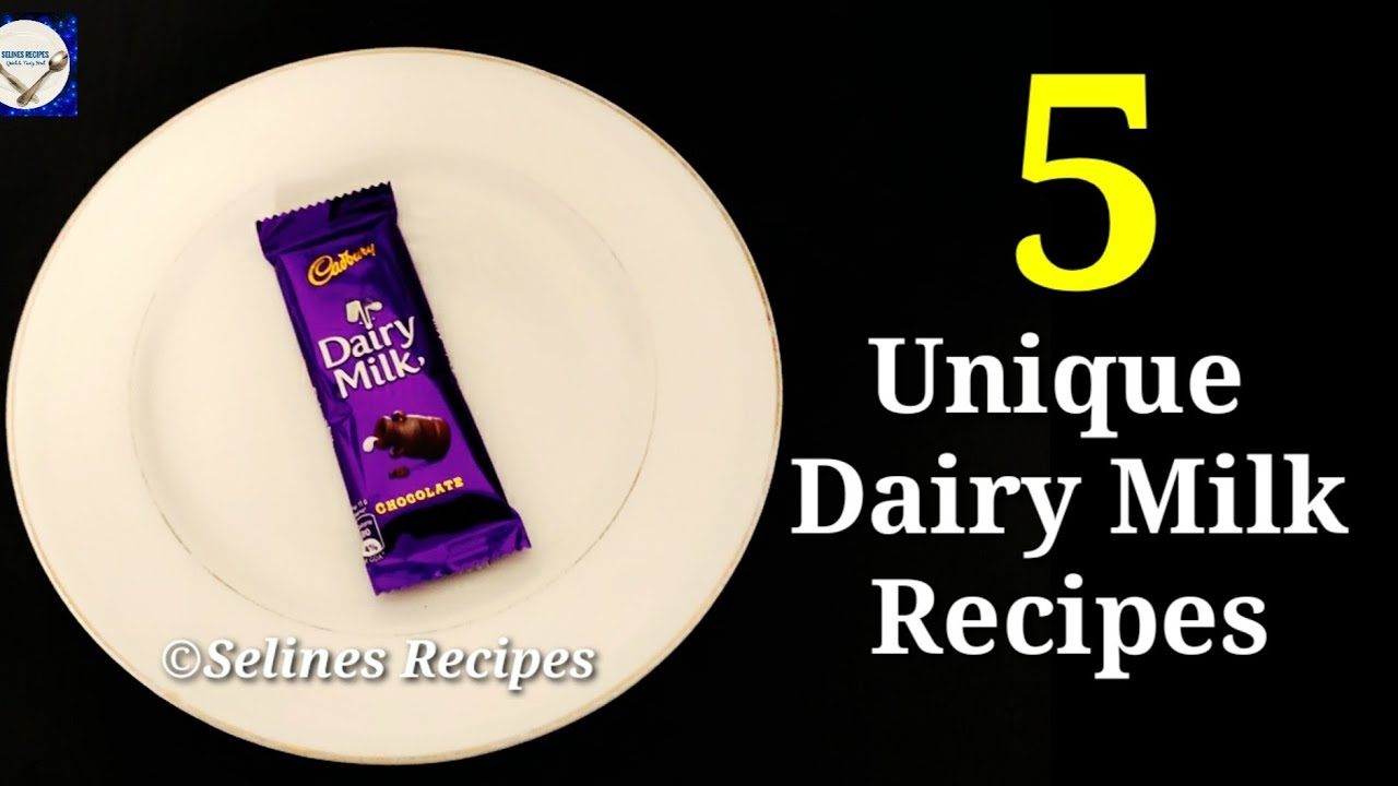 5 Unique Dairy Milk Chocolate Recipes |Chocolate Cake | Chocolate Ice cream | Chocolate Pudding |