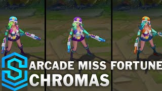 Top 5 Arcade Miss Fortune Chromas (NEW) (2016)