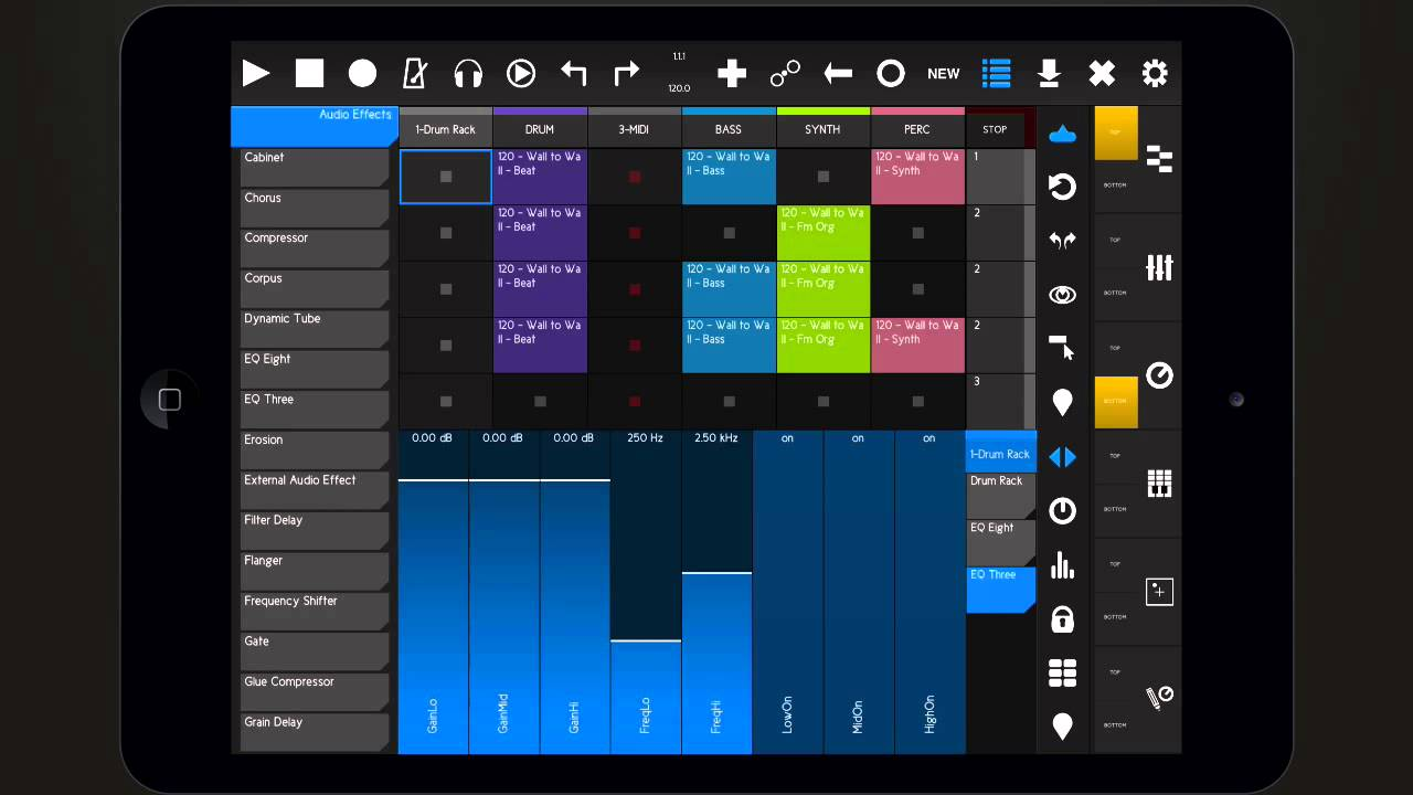 iOS Music App Overview: touchAble 2 Ableton Live Controller