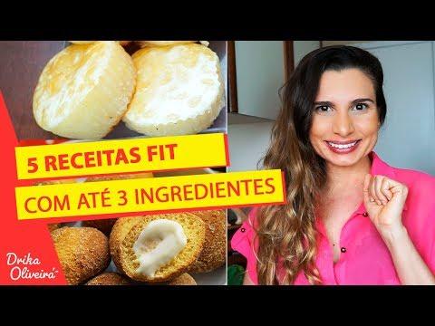 5 RECEITAS FIT FÁCEIS COM ATÉ 3 INGREDIENTES / Emagrecer rápido/ Reeducação Alimentar
