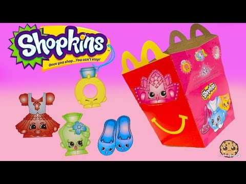 Mcdonalds Fast Food Happy Meals Exclusive Shopkins Surprise Blind Bags Toys Cookieswirlc Video