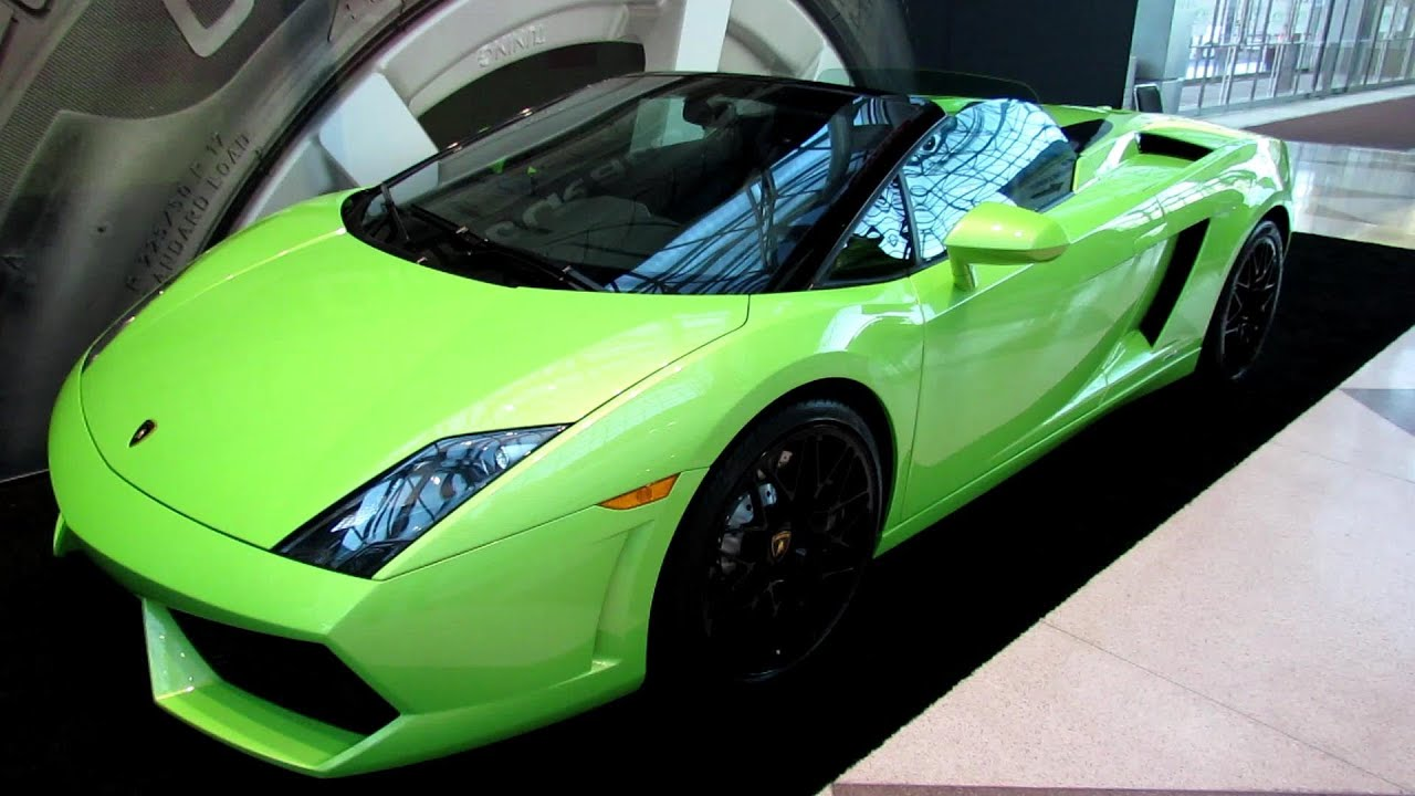 2013 Lamborghini Gallardo Lp560 4 Spyder Exterior And Interior