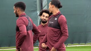 Liverpool Training Ahead Of PSG Champions League Clash