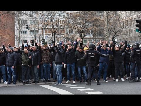 C1 Real Madrid - SSC Napoli ultras cortege