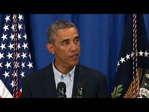 "Obama speaks out on ""heartbreaking"" Ferguson shooting"