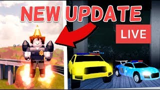 🔴 ROBLOX JAILBREAK LIVESTREAM | NEW VEHICLES AUDI R8 & JETPACKS! | GRIND TO LEVEL 50!! [LIVE🔴]