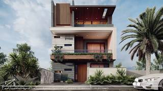 Front Elevation | 3d Views Modern House | Plan N Design   Aastitva Architects And Visualizers