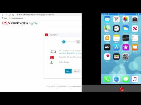 Registering Mobile Devices with RSA SecurID Access Authenticate