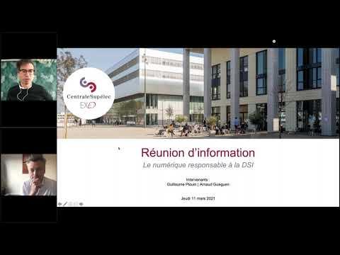Réunion d'information : Le numérique responsable à la DSI, résoudre les externalités négatives du SI