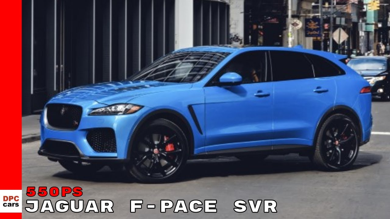 2019 Jaguar F Pace Svr Youtube