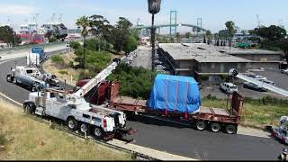 Download Trailer with 60,000lb machine load almost tips over on freeway Mp3 and Videos