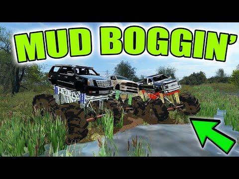 FARMING SIMULATOR 2017 | GOING MUD BOGGIN' | LIFTED TRUCKS
