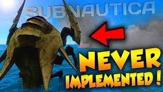 TOP 5 CREATURES THAT WERE NEVER IMPLEMENTED! | Subnautica Countdown
