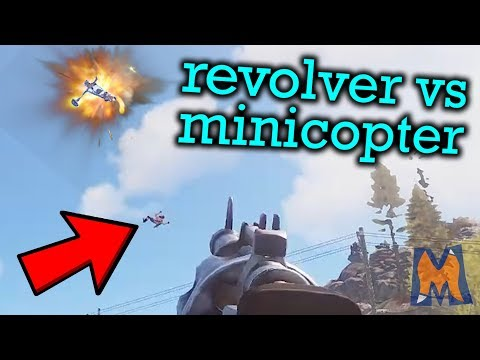 Took down the MINICOPTER with a REVOLVER!   Rust Vanilla+ Duo survival gameplay Ep 1 thumbnail