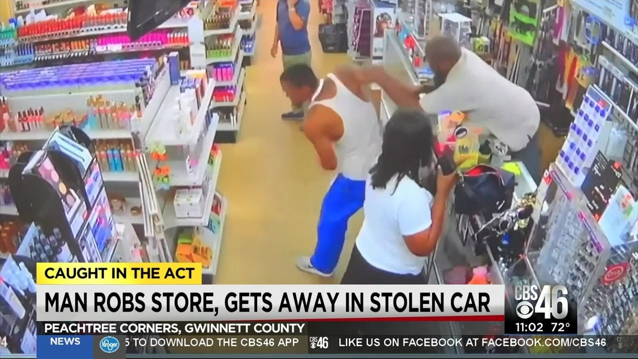 Black Man Robs Beauty Supply Store and Flees In Stolen Car