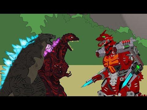 Shin Godzilla Vs Mechagodzilla (Kiryu) Master II: Battle | Godzilla Cartoons