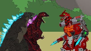 Shin Godzilla vs Mechagodzilla (Kiryu) Master II: Battle   Godzilla Cartoons