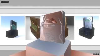 External hard drive Low-Poly - Blender 3d Model Download