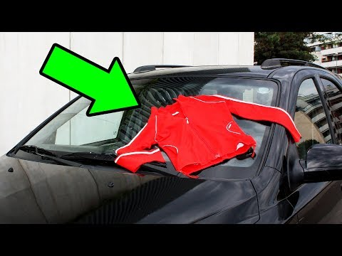If You See Clothes On Your Car, Don't Touch It And Drive Away!