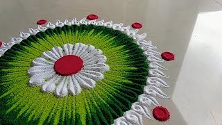 Small, quick and innovative rangoli design