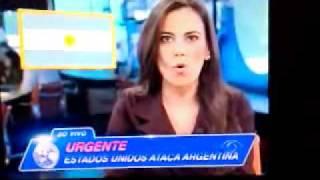 Bombas atomicas em direção a Argentina Materia jornal da Band