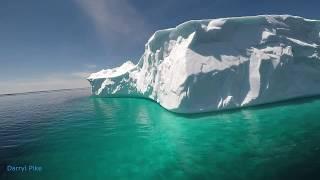 St Phillips ICEBERG aerial : Underwater Dunk in Lagoon : Newfoundland's Iceberg Alley