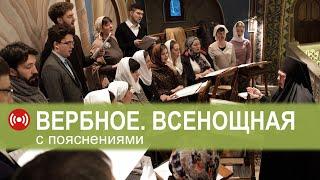 Трансляция: ВЕРБНОЕ. Всенощное бдение. 11.04.2020 18:00 (МСК)