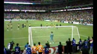 ronaldinho penalty kick vs america fc