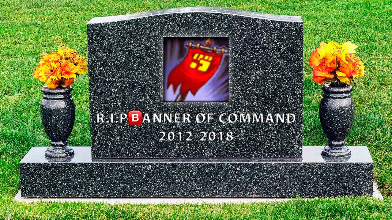 r i p banner of command youtube