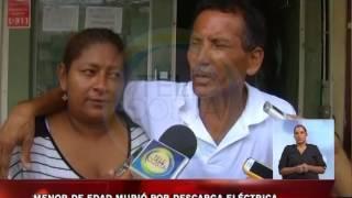 Menor de edad murió por descarga eléctrica