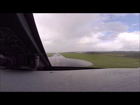 Gulfstream IV-SP Cockpit Wet Landing Shannon Ireland EINN ATC Audio