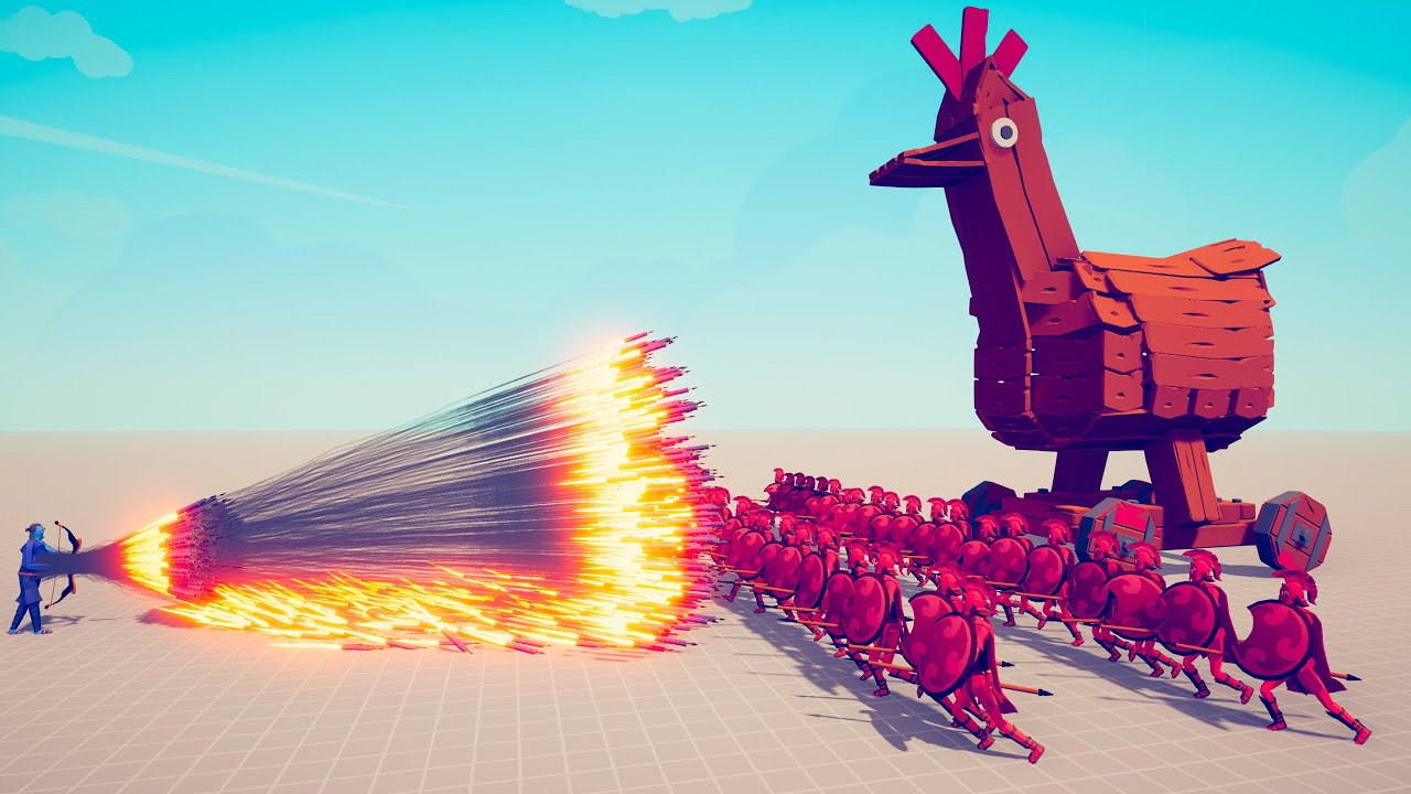 SPARTANS + TROJAN CHICKEN vs EVERY GOD | TABS - Totally Accurate Battle Simulator