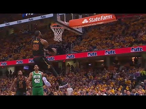 LeBron James Turns Back The Clock With A Reverse Windmill Dunk! Cavaliers vs Celtics Game 3