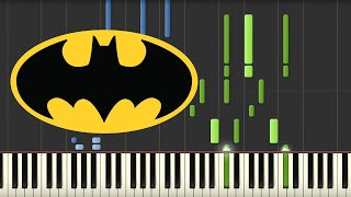Batman Theme 1989 - Danny Elfman (Piano Tutorial) [Synthesia]