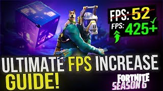 🔧 FORTNITE Battle Royale: Dramatically increase performance / FPS with any setup! Season 6