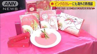 """""""ピンクのカレー""""に熱視線!?日本食にバイヤー殺到(19/11/27)"""