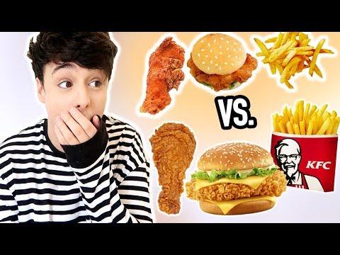 i made MINIATURE KFC foods *fried chicken, burger, fries and popcorn chicken*