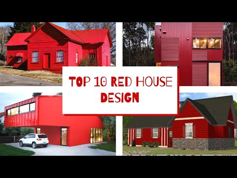 TOP 10 RED HOUSE DESIGN #SIMPLE HOUSE #HOUSE
