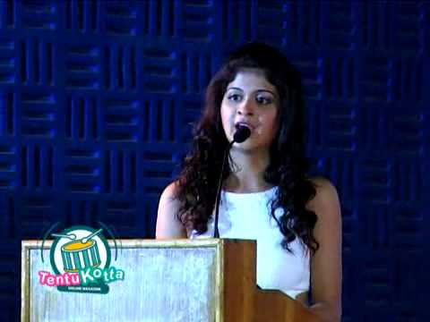 Vallinam Heroine Miruthula Fun Speech|Nakul|Thaman @audio launch function