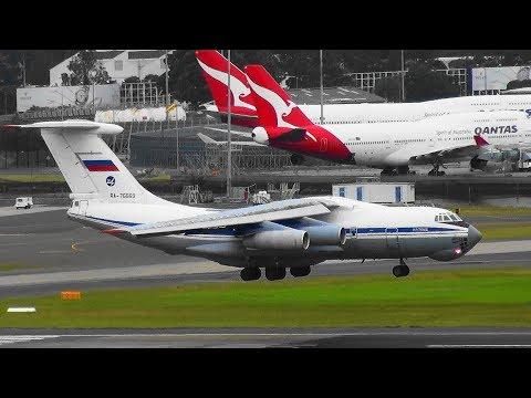 Heavy Aircraft Compilation -A380, B747, Ilyushin IL-76MD, B777, B787, B767, I Sydney Airport