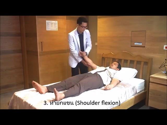 การบริหารข้อต่อเพื่อป้องกันการยึดติดในผู้ป่วยแขนขาอ่อนแรง