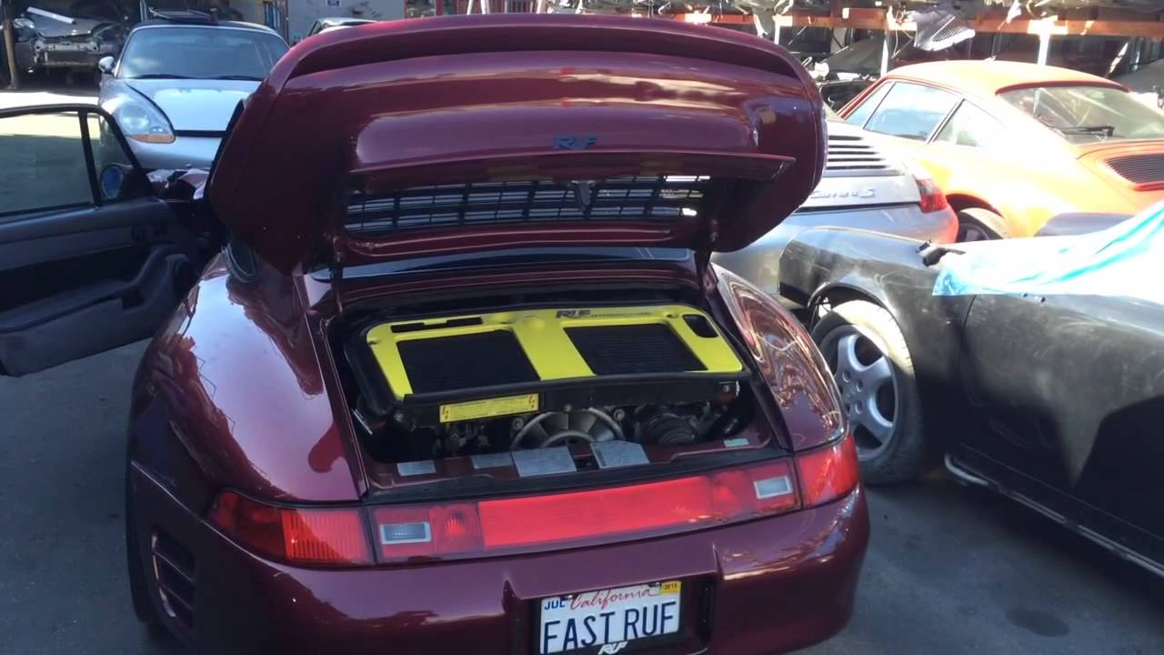Crashed RUF 993 Turbo R Aftermath at LA Dismantler - YouTube