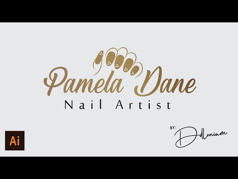 Draw Nail Art Design For Nail Artist - Logo Design Illustrator Tutorial - Dillenium #nailartistist